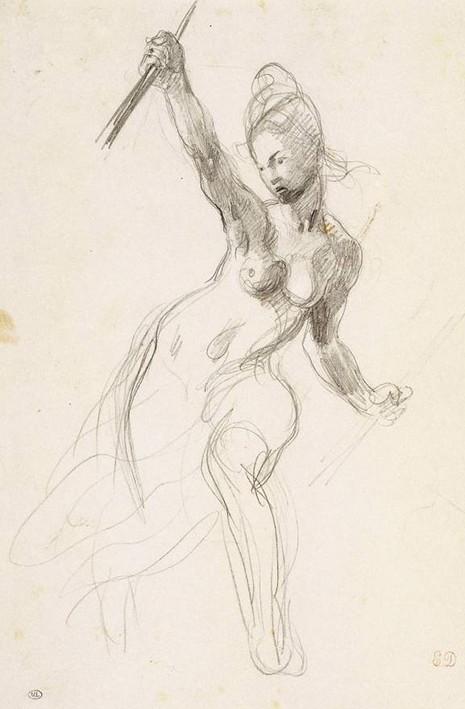 Eugène Delacroix, Etude pour La Liberté guidant le peuple, 1830, Paris, musée du Louvre