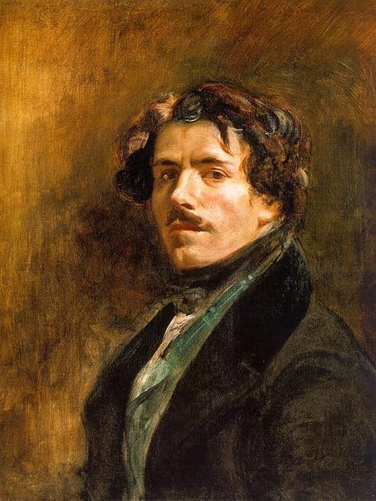 Eugène Delacroix, Autoportrait au gilet vert, 1837, Paris, musée du Louvre