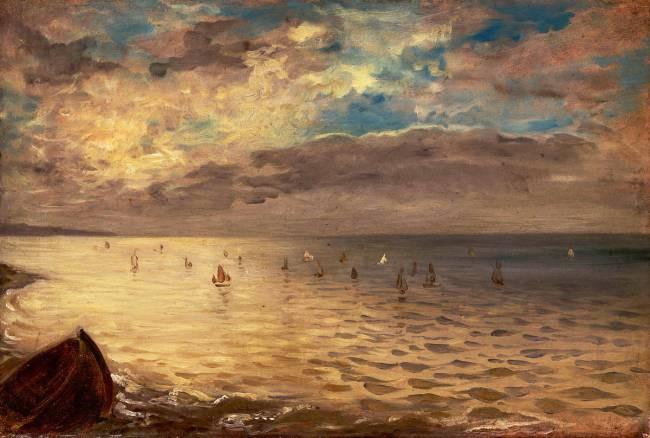 Eugène Delacroix, La Mer à Dieppe, 1852, Paris, musée du Louvre
