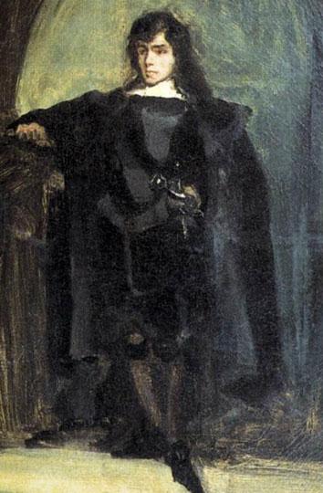 Eugène Delacroix, Autoportrait dit en Ravenswood, vers 1821, Paris, Musée national Eugène Delacroix