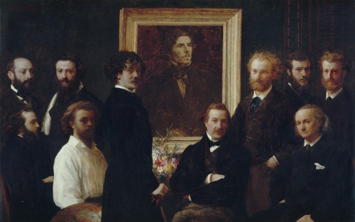 Henri Fantin-Latour, Hommage à Delacroix, 1864, Paris, musée d'Orsay