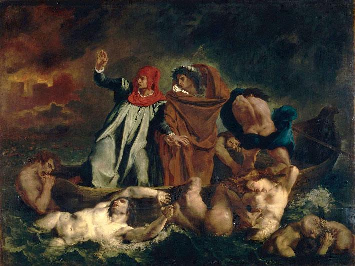 Eugène Delacroix, La Barque de Dante, 1822, Paris, musée du Louvre