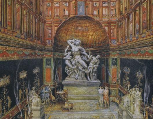 La Maison dorée de Néron et le groupe Laocoon (interprétation du XVIe siècle)