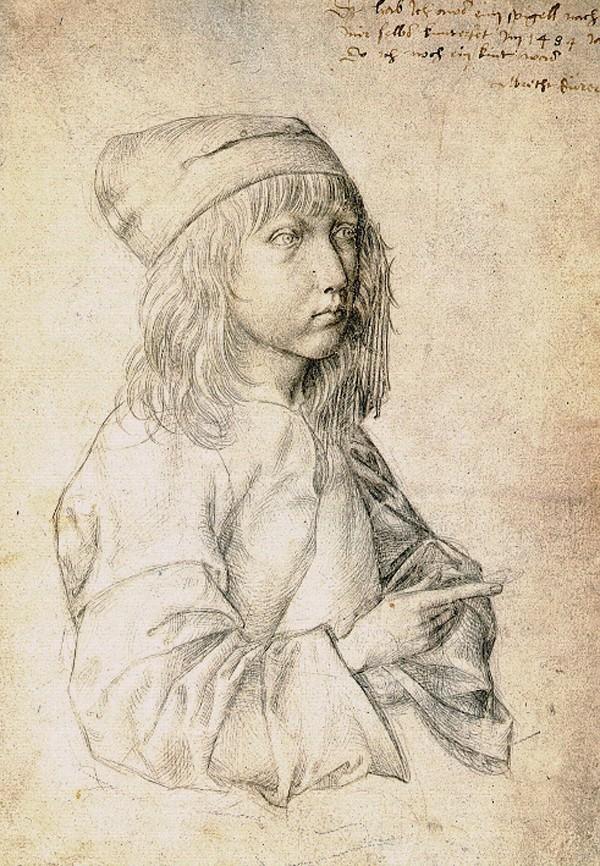 Autoportrait à l'âge de treize ans, 1484, Albrecht Dürer, musée palais Albertina, Vienne