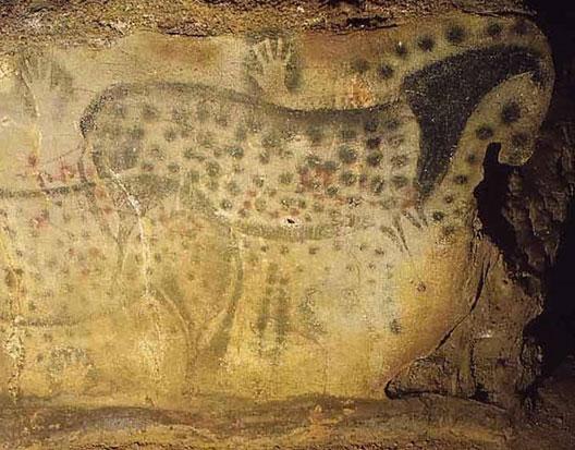 peinture de la grotte de Pech-Merle, 18 000 s. av. J.-C.