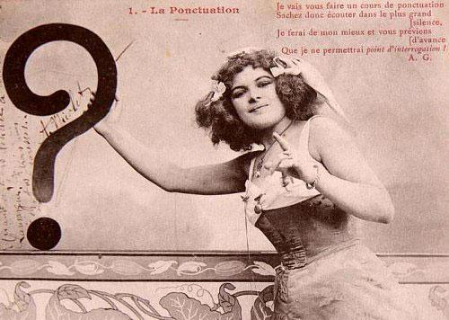 Point d'interrogation, carte postale ancienne