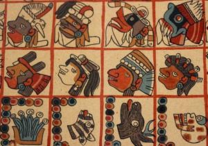 Tonalamatl Aubin, manuscrit aztèque, fac-similé, 1900 (exposition à Figeac, musée Champollion)