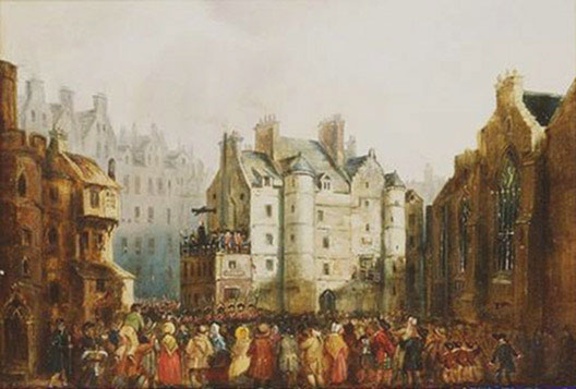 Alexander Hay Ritchie, Execution de William Brodie, XIXe s., City of Edimbourg Art and Museum