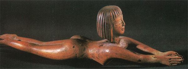 Nageuse avec récipient pour poudres de maquillage (Nouvel Empire, Haïfa, Museum maritime national)