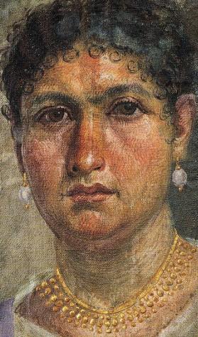 Portrait funéraire de la momie d'Aline, 24 après J.-C., Berlin, Ägyptisches Museum