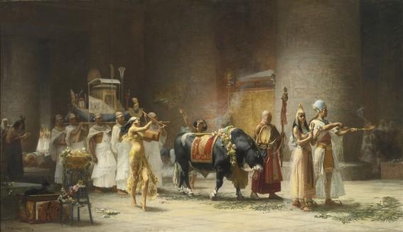 Frederick Arthur Bridgman, Procession du taureau Apis, 1879, coll. privée