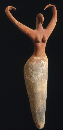 Figurine féminine, Ma'mariya, art nagada (vers 3 600 av. J.-c.), New York, Brooklyn museum