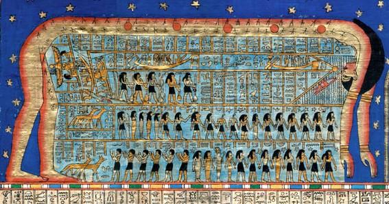 La déesse Nout, plafond de la salle funéraire de la tombe de Ramsès VI, Thèbes, XIIe s. av. J.-C.