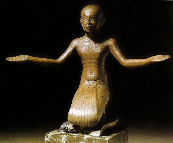 Prêtre en prière, IXe s. av. J.-C., Paris, musée du Louvre