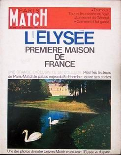 L'Elysée en couverture de Paris-Match en 1965