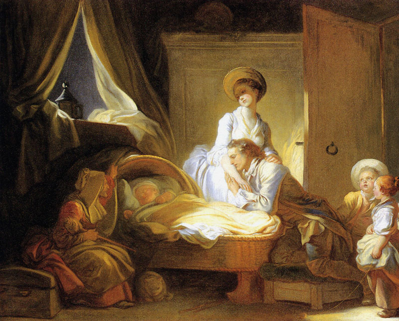 Visite à la nourrice, Jean-Honoré Fragonard, 1775, Washington, National Gallery of Art, États-Unis.