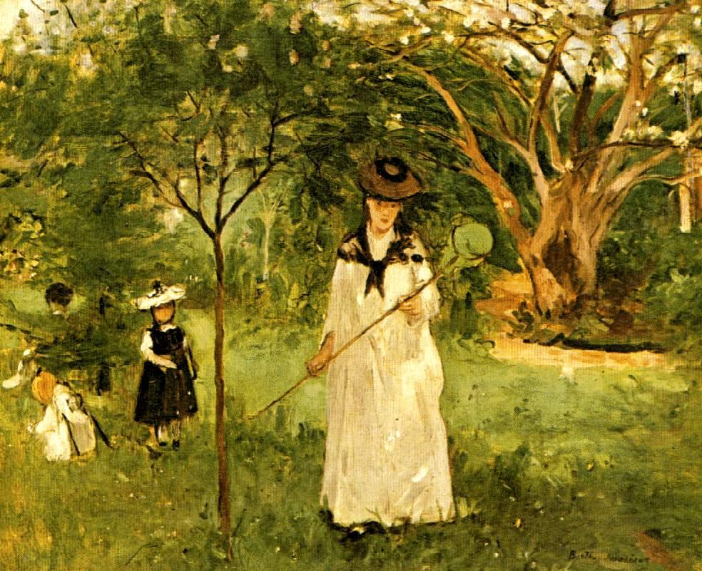 La Chasse aux Papillons, Berthe Morisot, 1874, musée d'Orsay, Paris.