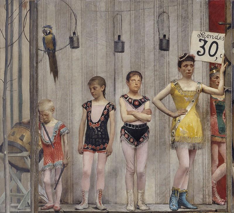 Grimaces et misère - les Saltimbanques (détail), Fernand Pelez, 1888, musée des Beaux-Arts de la Ville de Paris, Petit Palais.