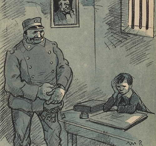 L'Assiette au Beurre, 13 février 1909, BnF, Paris. Ce numéro dénonce la colonie agricole de Mettray.