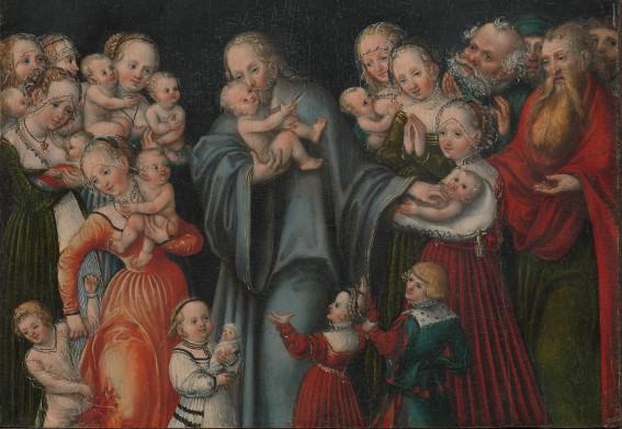 Christ bénissant les enfants, vers 1545, Lucas Cranach Le Jeune, New York, Metropolitan Museum of Art.