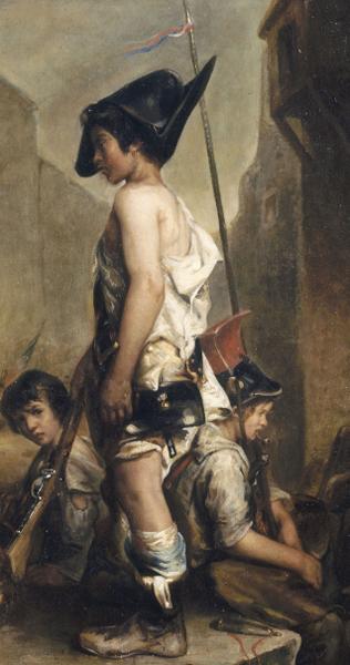 Les Petits Patriotes, Philippe-Auguste Jeanron, 1830,  musée des beaux-arts de Caen.