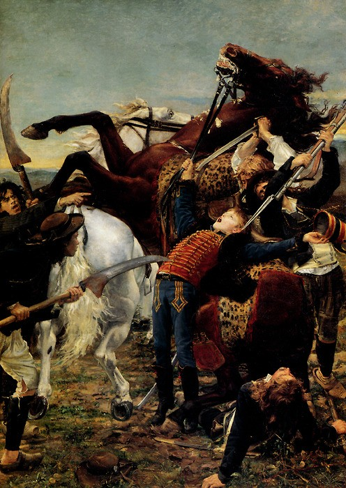 La Mort de Bara en 1793, Jean-Joseph Weerts, 1880, Paris, musée d'Orsay.