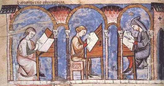 Scriptorium, Libro de los juegos, XIIIe s., monastère de l'Escorial