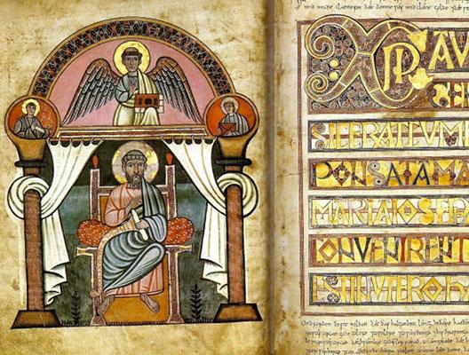 Stockholm Codex Aureus, IXe s., Royal Library,  Stockholm