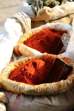 épices sur un marché indien (photo : Gérard Grégor)