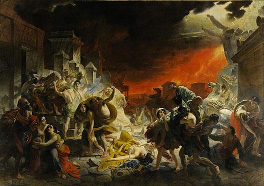 Karl Brullov, Le Dernier jour de Pompéi, 1833, Musée russe, Saint-Pétersbourg.