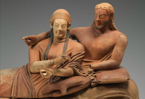 « Sarcophage des époux de Cerveteri », VIe siècle av. J.-C, musée du Louvre, Paris.