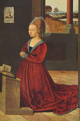Portrait d'une jeune fille, Petrus Christus, vers 1450, National Gallery of Art, Washington.