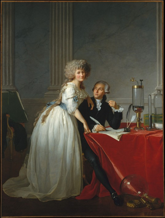 « Antoine-Laurent Lavoisier et sa femme », Jacques Louis David, 1788, Metropolitan Museum of Art, New York.