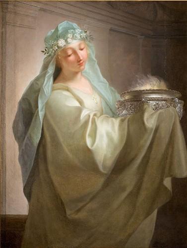 « Vestale portant le feu sacré », Jean Raoux, 1729, musée Fabre, Montpellier.