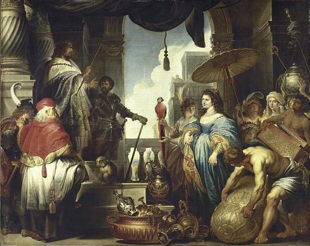 « Salomon et la reine de Saba », Jan Erasmus Quellinus, XVIIe siècle, musée des beaux-arts, Lille.