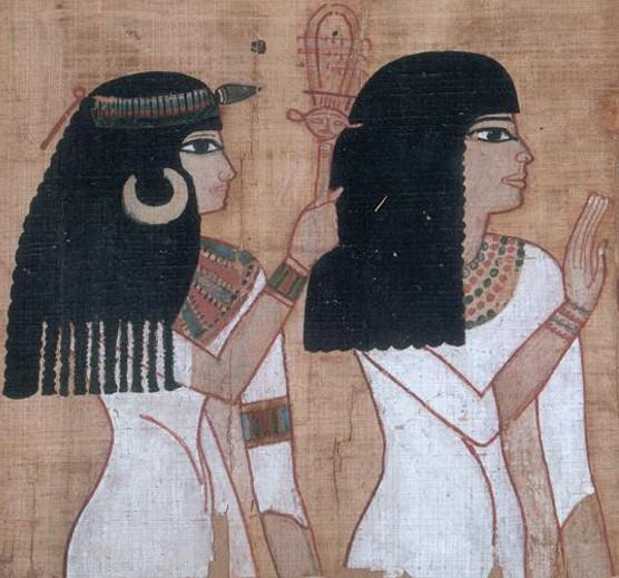 « Le Livre des morts », papyrus de Nebqed, vers 1400 av. J.-C., musée du Louvre, Paris.