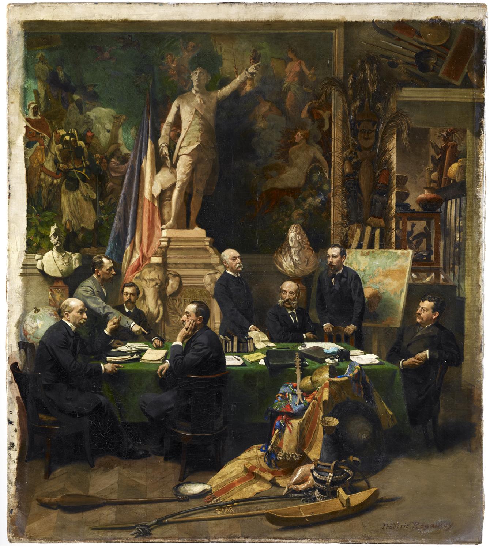 Jules Ferry recevant les délégués des colonies (1892, Frédéric Regamey)