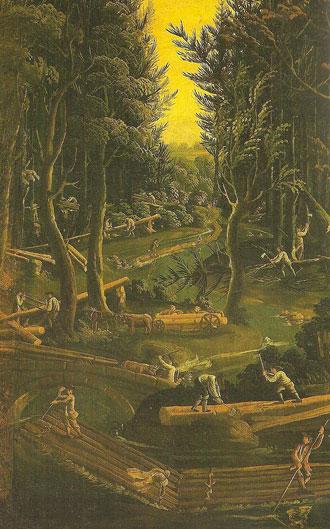 Le travail dans la forêt