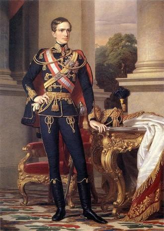 François-Joseph 1er à 23 ans (18 août 1830, Schönbrunn, Vienne - 21 novembre 1916)