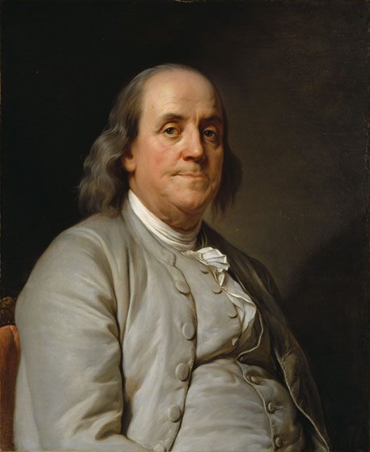 Benjamin Franklin (Joseph Siffrein Duplessis, 1785, National Portrait Gallery, Washington)