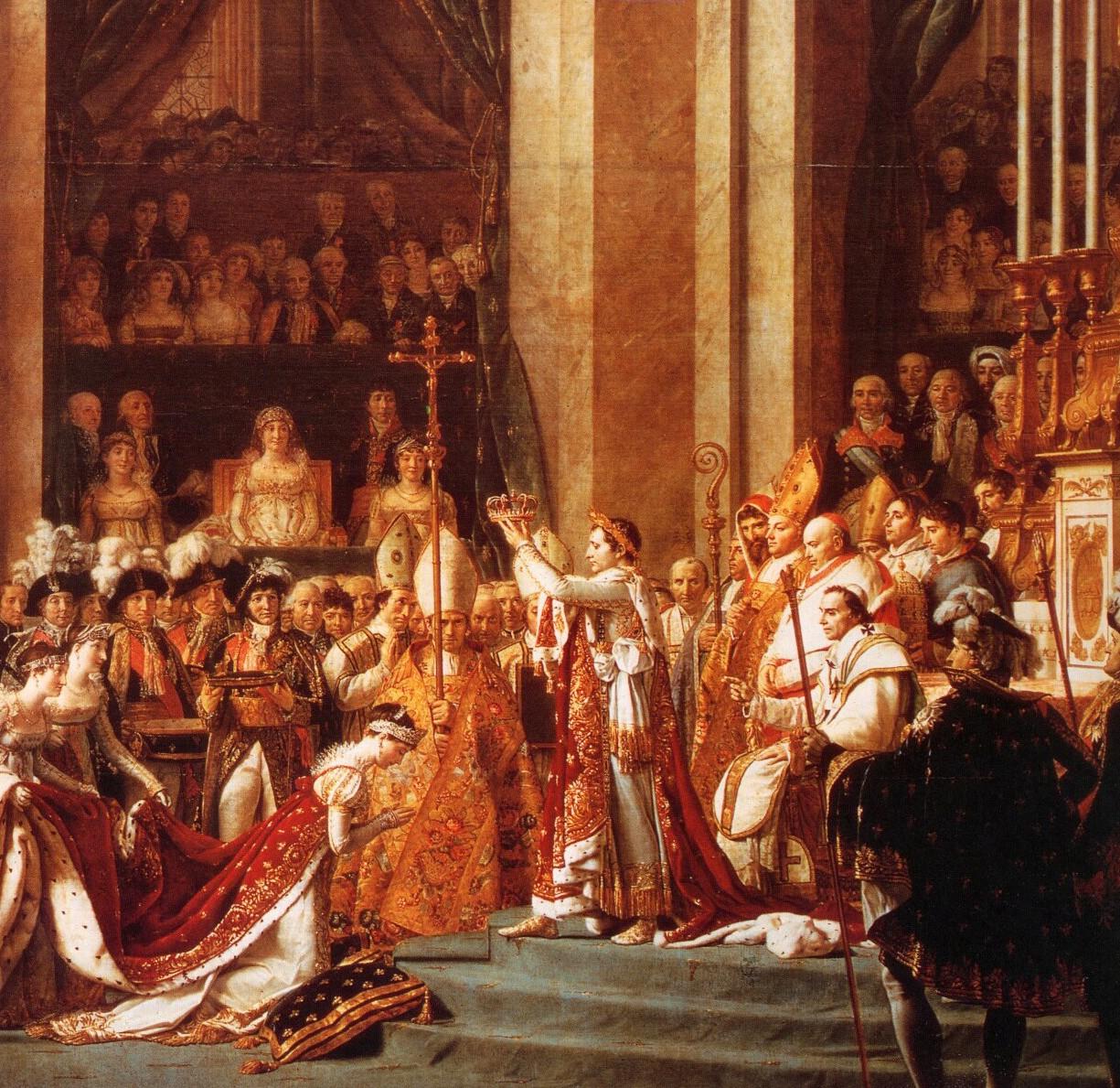 Le sacre de Napoléon Ier (détail)