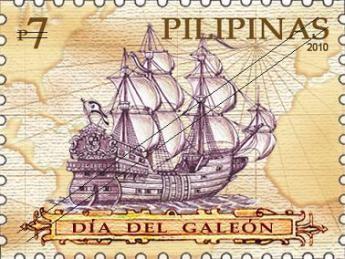 Timbre philippin à l'effigie du galion de Manille