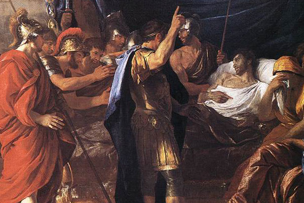 La mort de Germanicus (Nicolas Poussin, 1627, Institute of Arts, Minneapolis)