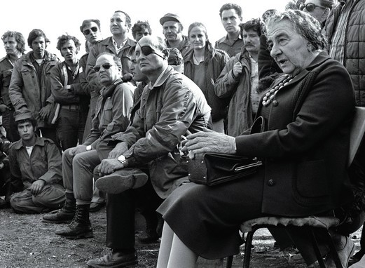 Golda Meir et Moshe Dayan pendant la guerre du Kippour (octobre 1973), DR