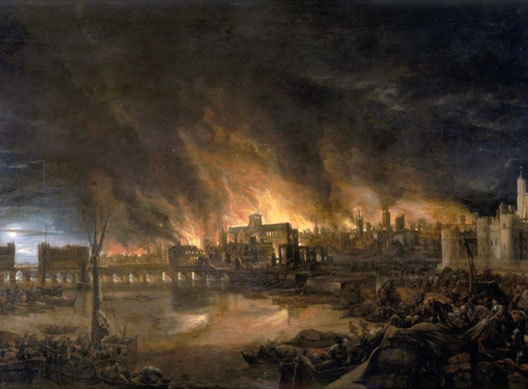 Le Grand Incendie de Londres (2-4 septembre 1666), vu par un témoin direct (anonyme)