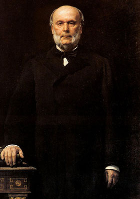 Jules Grévy (15 août 1807 - 9 septembre 1891, Mont-sous-Vaudrey, Jura), portrait officiel par Léon Bonnat