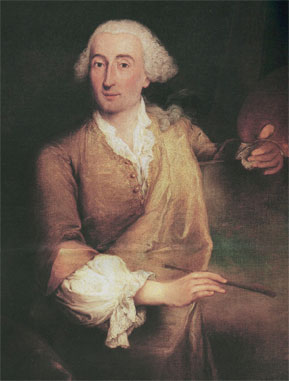 Francesco Lazzaro Guardi (5 octobre 1712 – 1er janvier 1793), portrait par Petro Longhi
