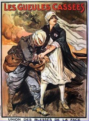 Affiche Les Gueules cassées de l'Union des blessés de la face