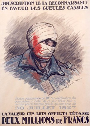 Affiche de souscription pour les Gueules cassées, 1927