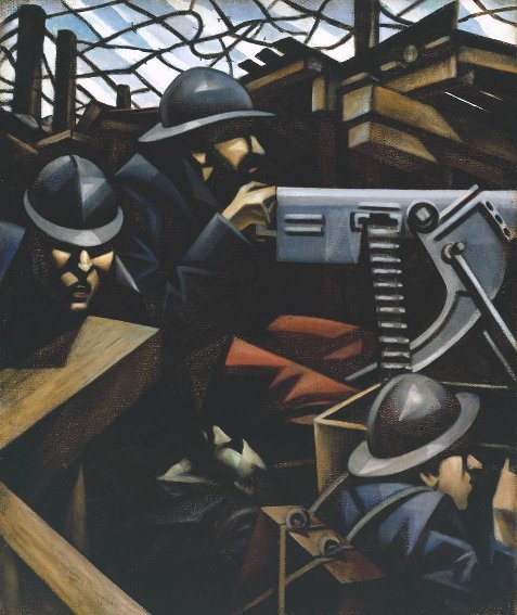 Richard Nevinson, La Mitrailleuse, 1915, Londres, Tate collection